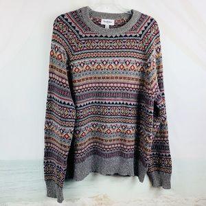 Goodfellow Sweater Nordic Crew Neck Size Large